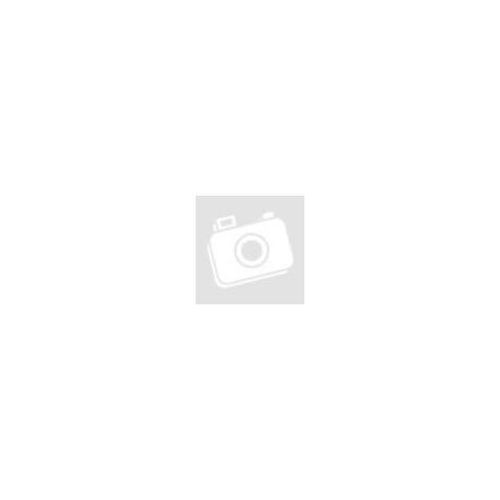 Pink-fehér pöttyös, csomózott karkötő